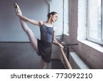 young ballet dancer practice... | Shutterstock . vector #773092210