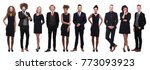 business people in black | Shutterstock . vector #773093923