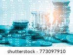 stock market or forex trading... | Shutterstock . vector #773097910