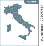 the detailed map of the italy... | Shutterstock . vector #773097994