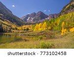 maroon bell in aspen colorado | Shutterstock . vector #773102458