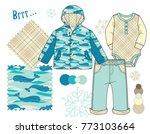 baby toddler unisex fashion...   Shutterstock .eps vector #773103664
