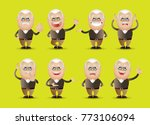 cute people   grandpa set | Shutterstock .eps vector #773106094