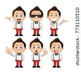 cute set   set of man character  | Shutterstock .eps vector #773110510