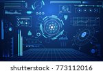 abstract technology ui... | Shutterstock .eps vector #773112016