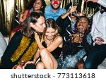 people enjoying a party | Shutterstock . vector #773113618
