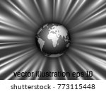black  silver earth globe... | Shutterstock .eps vector #773115448