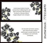 vintage delicate invitation...   Shutterstock . vector #773116690