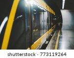 dark interior of subway station ... | Shutterstock . vector #773119264