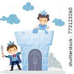 illustration of stickman kids... | Shutterstock .eps vector #773123260
