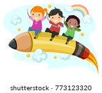 illustration of stickman kids... | Shutterstock .eps vector #773123320