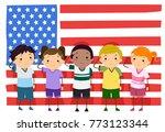 illustration of stickman kids... | Shutterstock .eps vector #773123344