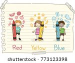 illustration of stickman kids... | Shutterstock .eps vector #773123398