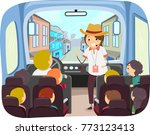 illustration of stickman kids... | Shutterstock .eps vector #773123413