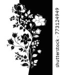 vector floral pattern.... | Shutterstock .eps vector #773124949