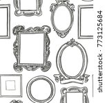 rococo frames pattern.... | Shutterstock .eps vector #773125684