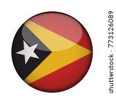 east timor flag in glossy round ... | Shutterstock .eps vector #773126089