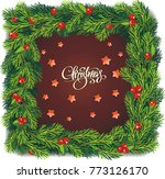 christmas cake with decorations ... | Shutterstock .eps vector #773126170