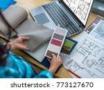 architect  interior designer ... | Shutterstock . vector #773127670