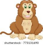 cute cassava cartoon sitting... | Shutterstock .eps vector #773131690