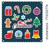 set of christmas icon or design ... | Shutterstock .eps vector #773132776