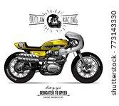vintage cafe racer poster | Shutterstock .eps vector #773143330
