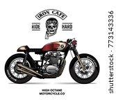 vintage cafe racer poster   Shutterstock .eps vector #773143336