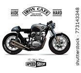 vintage cafe racer poster | Shutterstock .eps vector #773143348
