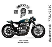 vintage cafe racer poster   Shutterstock .eps vector #773143360
