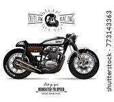 vintage cafe racer poster | Shutterstock .eps vector #773143363