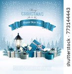 merry christmas background with ... | Shutterstock .eps vector #773144443