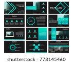 green presentation templates...   Shutterstock .eps vector #773145460