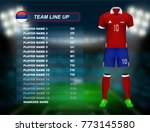 serbia soccer jersey kit with... | Shutterstock .eps vector #773145580