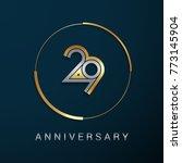 29 years anniversary logotype... | Shutterstock .eps vector #773145904