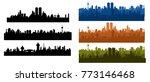 skyline city silhouette | Shutterstock .eps vector #773146468