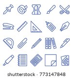 stationery set vector lines