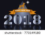 2018 happy new year design... | Shutterstock .eps vector #773149180
