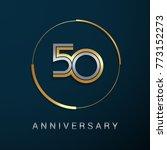 50 years anniversary logotype...   Shutterstock .eps vector #773152273