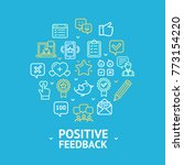 positive feedback round design... | Shutterstock .eps vector #773154220