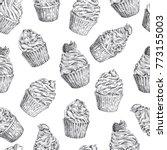 set of vector hand drawn... | Shutterstock .eps vector #773155003