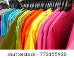 fashion clothes on clothing... | Shutterstock . vector #773155930