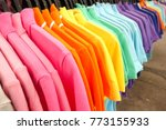 fashion clothes on clothing... | Shutterstock . vector #773155933