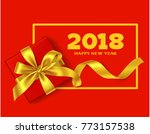 happy new year 2018. chinese... | Shutterstock .eps vector #773157538