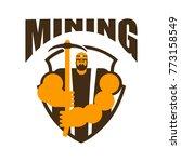 miner logo. mining bitcoin... | Shutterstock .eps vector #773158549