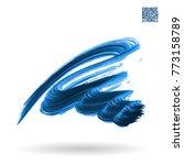 blue brush stroke and texture....   Shutterstock .eps vector #773158789