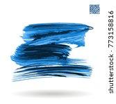 blue brush stroke and texture....   Shutterstock .eps vector #773158816