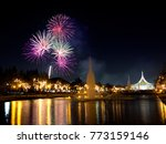 fireworks in the middle of in... | Shutterstock . vector #773159146