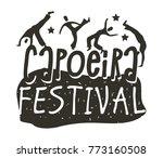 capoeira brazilian dance logo... | Shutterstock .eps vector #773160508