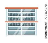 supermarket shelves design... | Shutterstock .eps vector #773164270