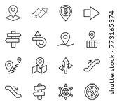 thin line icon set   pointer ... | Shutterstock .eps vector #773165374